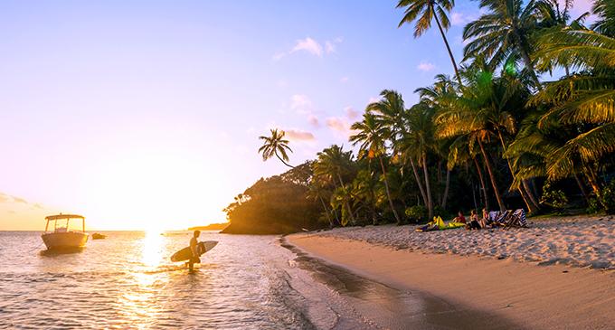 Fiji Beachouse is a popular surfers destination.