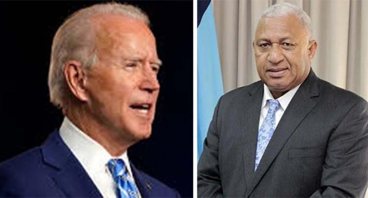 PM Bainimarama Congratulates USA's President-Elect Biden