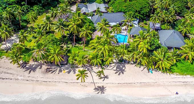 An aerial view of Fiji Beachouse