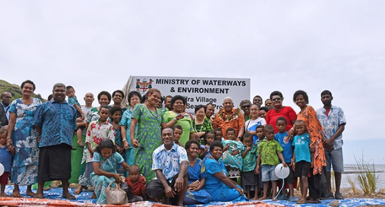 New Seawall To Safeguard Villagers Of Nabukadra From Climate Crisis