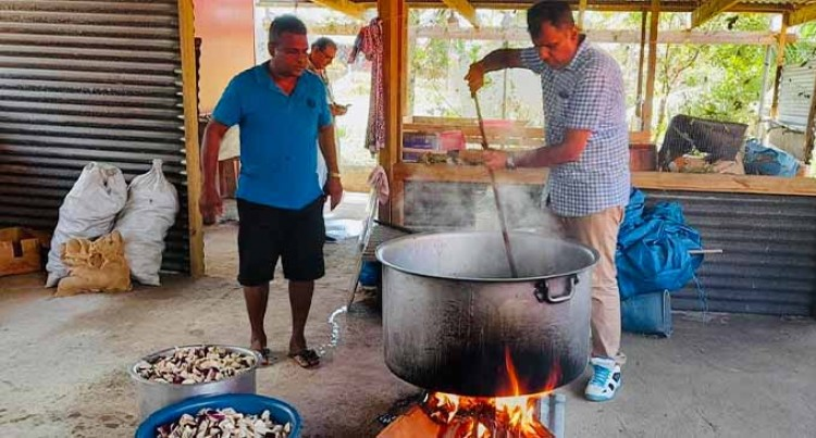 Fiji Sevashram Cooks Hot Meals for Cyclone Victims