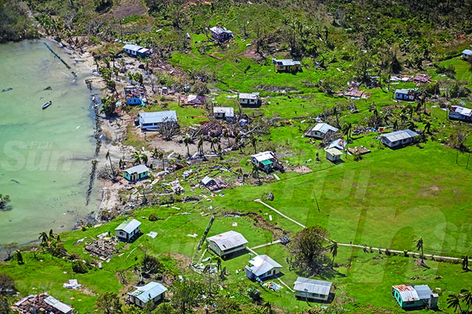 Villages along Bua during Cyclone Yasa's devestation in the north on the 19th December 2020. Photo- Leon Lord