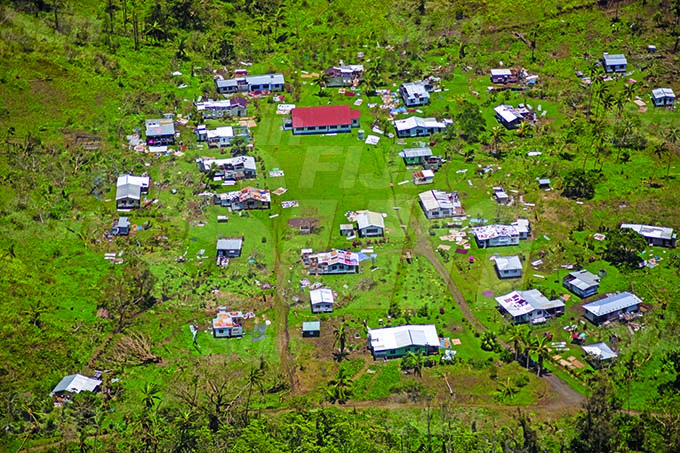 Villages along Taiveuni of during Cyclone Yasa's devestation in the north on the 19th December 2020. Photo- Leon Lord