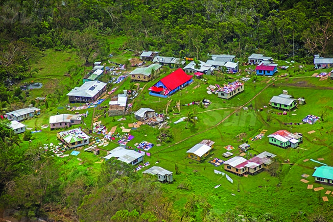 Villages along the Northen Tip of Vanualevu of during Cyclone Yasa's devestation in the north on the 19th December 2020. Photo- Leon Lord