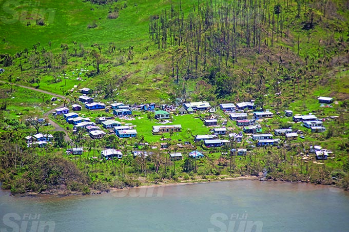 Villages along Macuata during Cyclone Yasa's devestation in the north on the 19th December 2020. Photo- Leon Lord