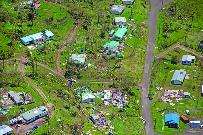Villages along the Macuata northen side of Vitilevu during Cyclone Yasa's devestation in the north on the 19th December 2020. Photo- Leon Lord