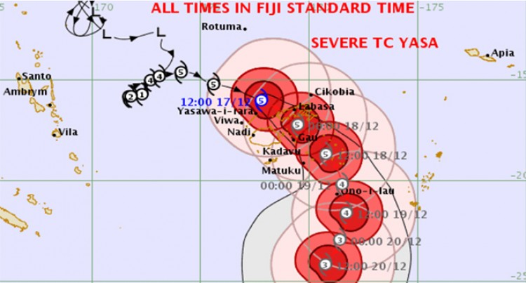 Severe TC Yasa Expected to Make Landfall Over Bua In a Few Hours