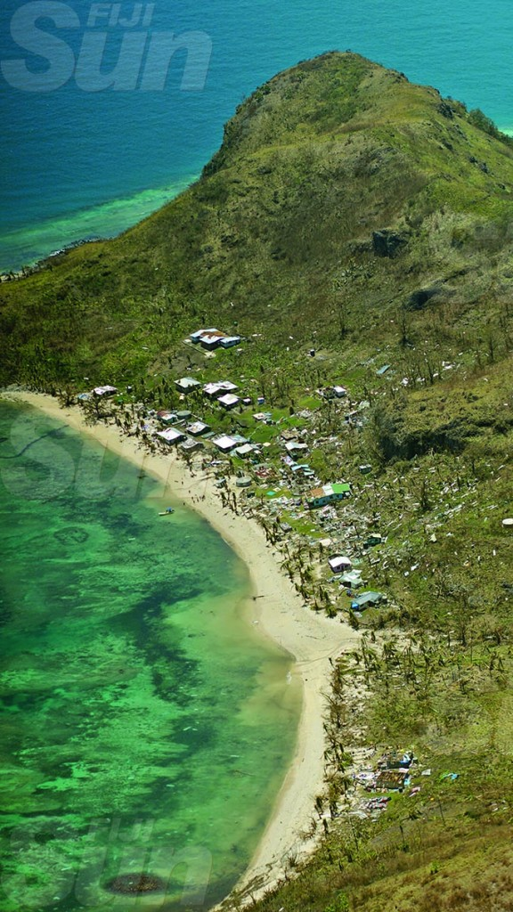 Cyclone Yasa stripped trees and vegetation and left houses on Kia Island in rubble and others damaged as seen on December 19, 2020. Kia is off the Macuata Coast on the Great Sea Reef. Photo: Leon Lord