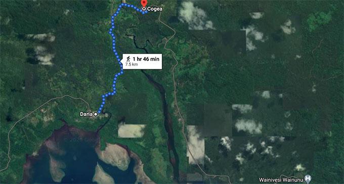 The walk from Daria village to Cogea village.