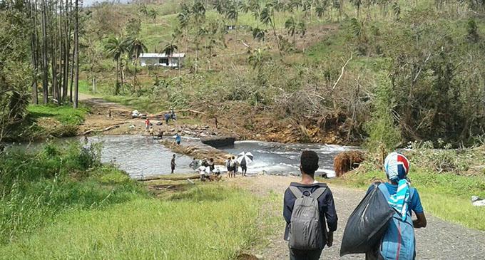 The walk to Cogea village.