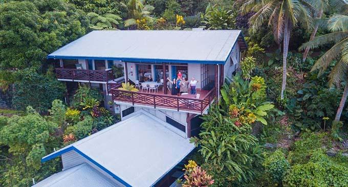 William BigWilz Waqanibaravi's Taveuni home.