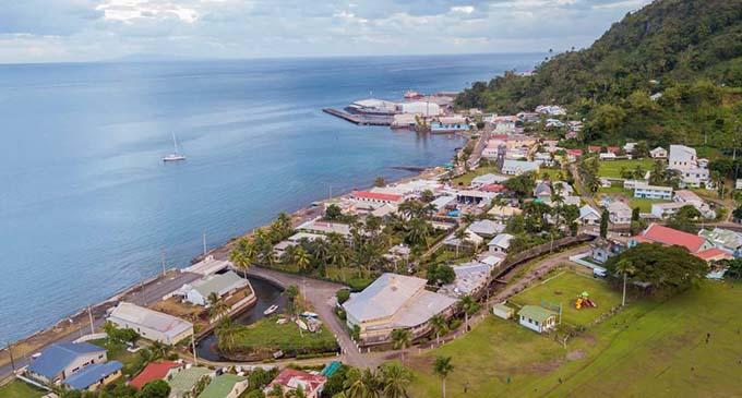 Aerial shot of Levuka Town.