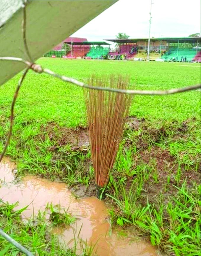 Some believe 'sasa' (broom) will stop the rain' in Labasa over the weekend. Photo: Courtesy of Asuad Ali