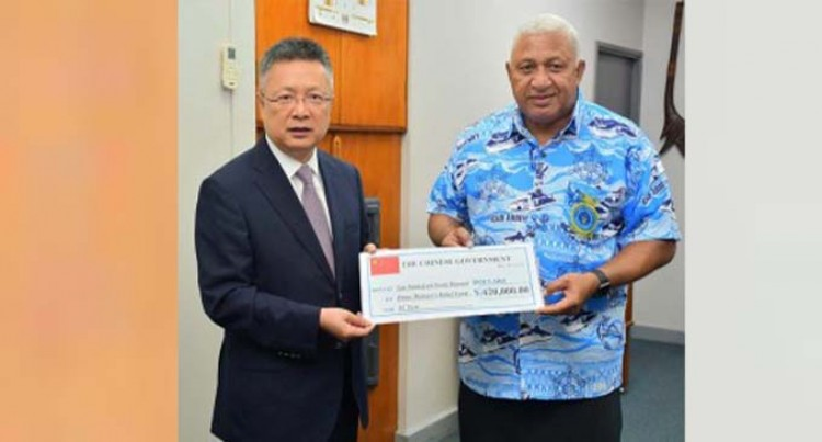 Chinese Ambassador Hands Over $420K Cheque To PM For Yasa Relief Efforts