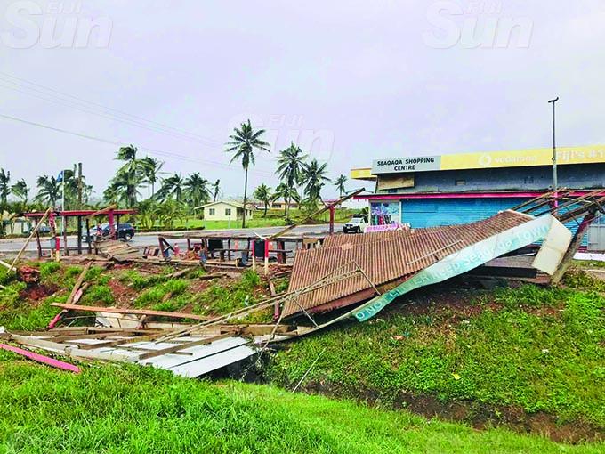 The market in Seaqaqa, Macuata Province was damaged by Cyclone Yasa on December 18, 2020. . Photo: Shratika Naidu