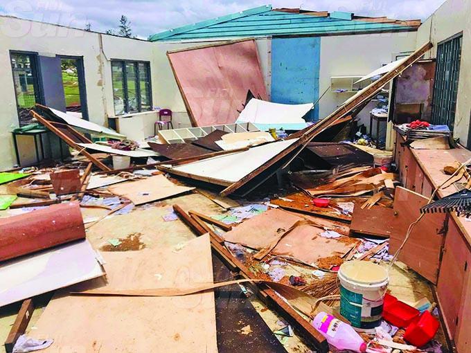 Lekutu Secondary School in Bua was damaged by Cyclone Yasa in Bua on December 18, 2020. Photo: Shratika Naidu