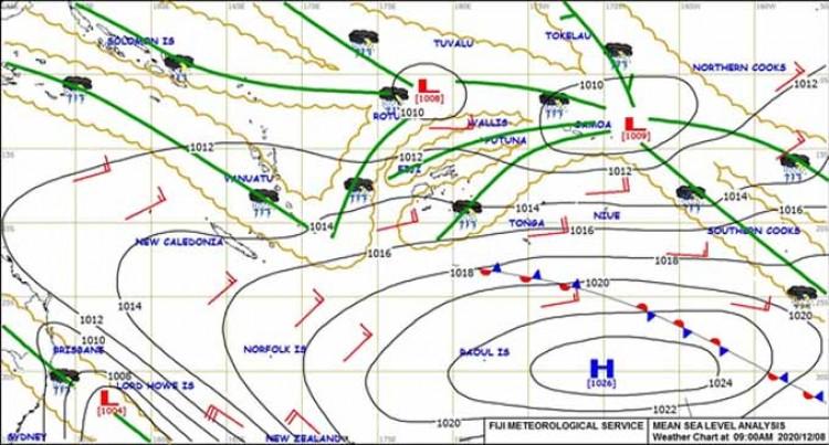 Fiji Met. Monitor Two Tropical Lows