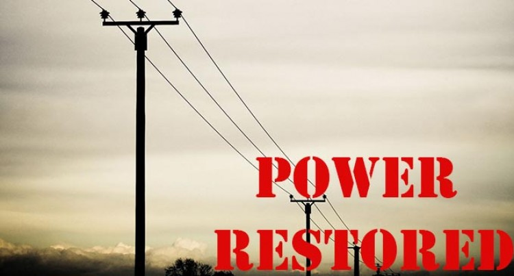 Power Back In Some Areas