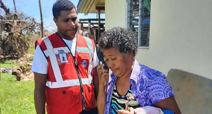 The Fiji Red Cross team were able to restore communication links with families affected.