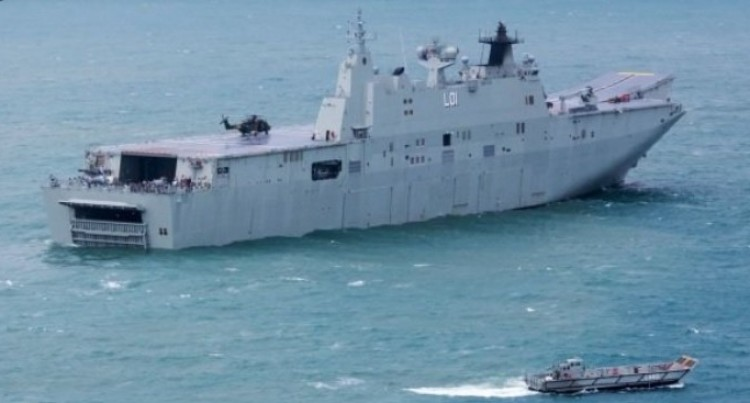 HMAS Adelaide On Way Here As Part of Australia's $4.5m  Humanitarian Mission