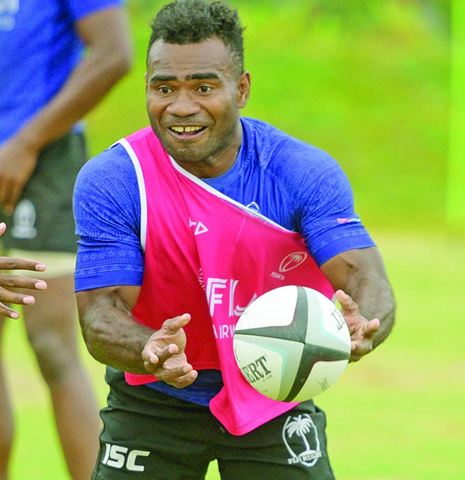 Jerry Tuwai of Fiji Airways 7's side during training at Albert Park on November 19, 2019. Photo: Ronald Kumar.