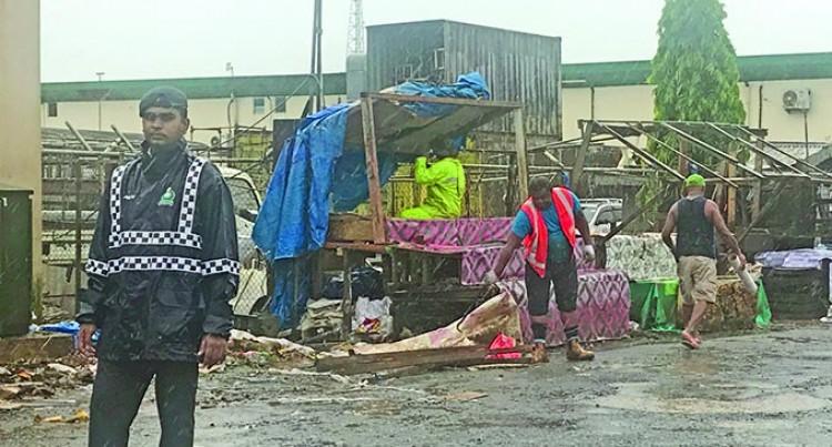 Makeshift Stalls Taken Down In Urban Centres