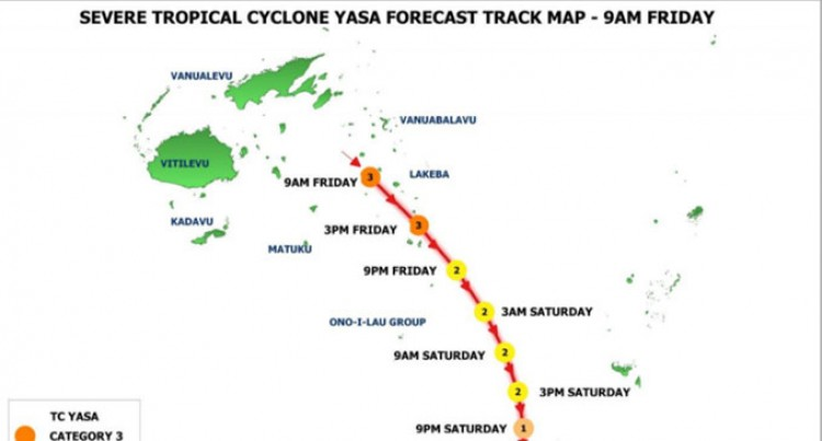 TC Yasa Weakens To Category 3