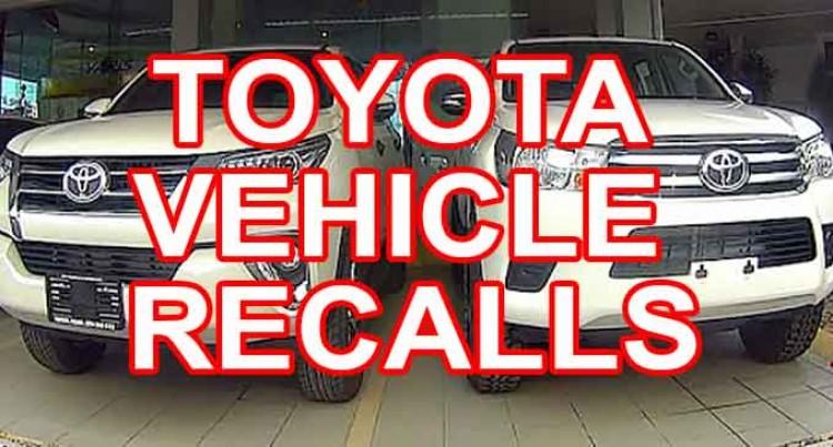 Toyota Vehicle Recalls
