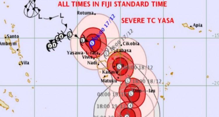 TC Yasa: Bua Province Right In Cyclone Path