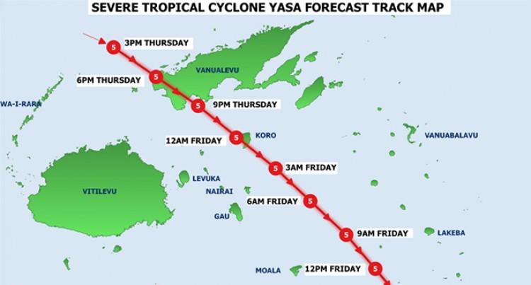 Koro Next After TC Yasa Made Landfall In Bua At 6pm