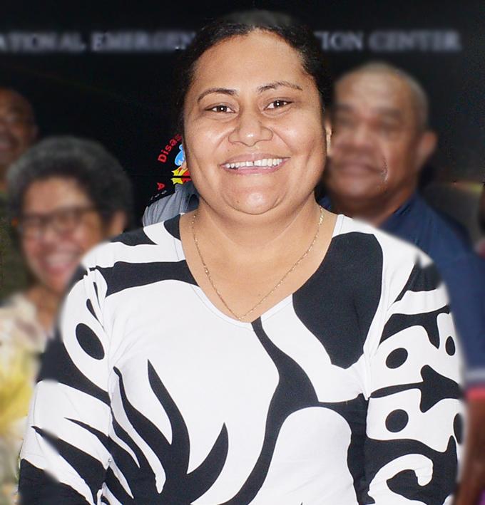 Director NDMO Vasiti Soko (middle) with her hard working team in Suva on December 30, 2020. Photo: Ronald Kumar.