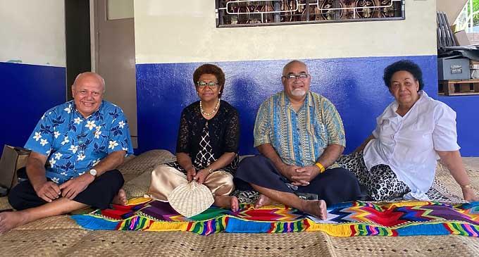 Viliame Gavoka, Ro Teimumu Kepa, Ratu Epenisa Cakobau and Mrs Leba Qarase