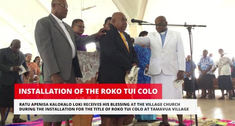 Installation Of The Roko Tui Colo