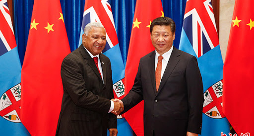 Prime Minister Voreqe Bainimarama and Chinese President Xi Xinping in 2015