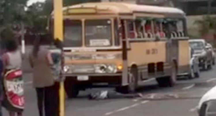 Man Runs Into A Moving Bus, Runs Away From Hospital