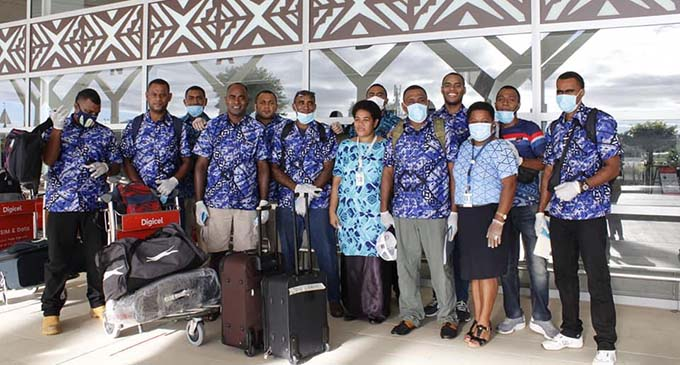 182 Fijians departed the Nadi International Airport for Australia to start work under the Pacific Labour Scheme. Photo: Australian High Commission Suva