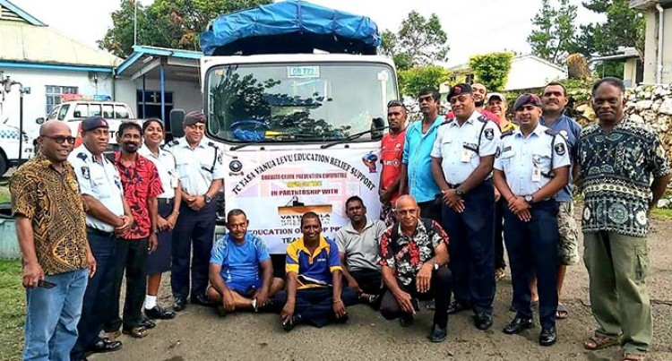 Police Cyclone Appeal Collects Over $20K, Secures 500 Stationery Packs