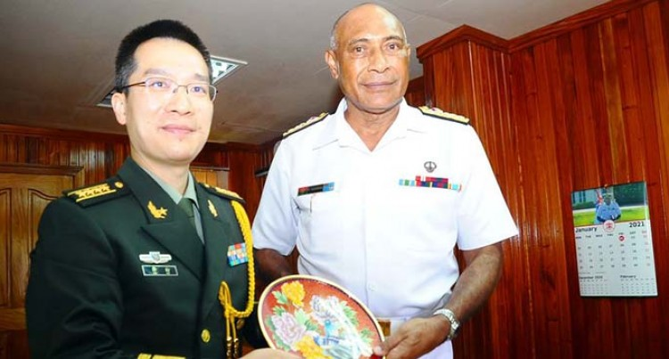 Senior Colonel Ke- First Defence Attaché Of The Chinese Embassy In Fiji