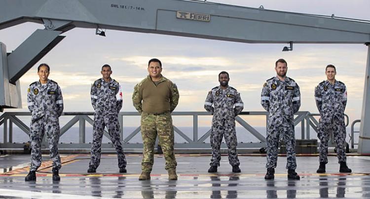 Meet The Fijian-Australians On Board The Ship HMAS Adelaide