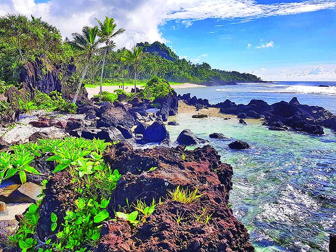 Naivakawau beach on Taveuni Island.