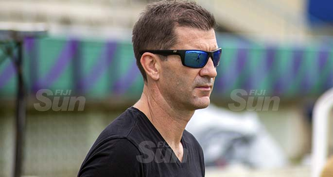 Fijian 7s head coach Gareth Baber during the Super Sevens Series at Lawaqa Park, Sigatoka. Photo: Leon Lord