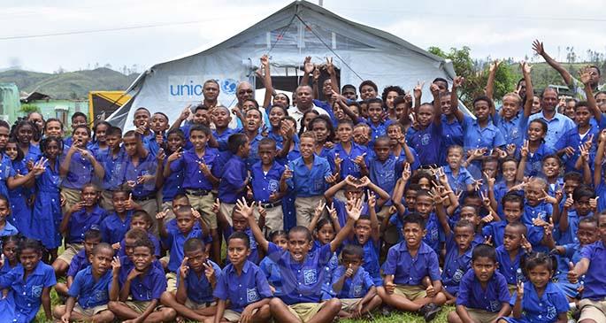 Dreketi Primary students were more than happy to start their classes with joy. Photo: Shratika Naidu