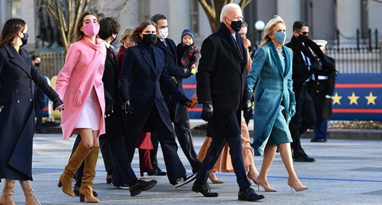 President Joe Biden's Inauguration Day Parade Kicks Off