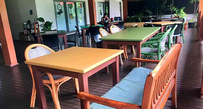 Ginger Cafe, located at the Suva Museum next to Thurston Gardens.