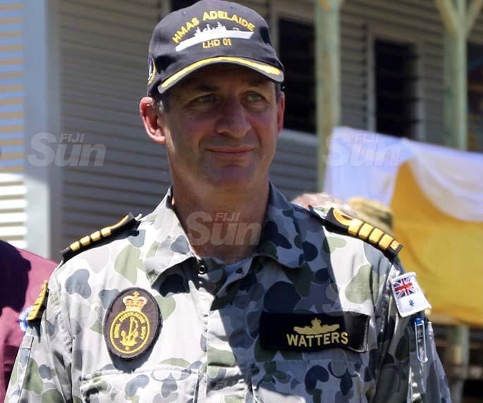HMAS Adelaide Commanding Officer Captain Stuart Watters. Photo: Jennis Naidu