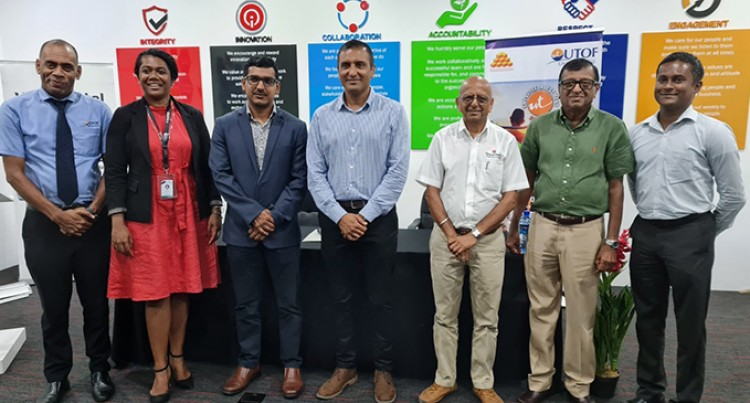Vinod Patel Signs Up With Unit Trust Of Fiji's Employee Investment Scheme