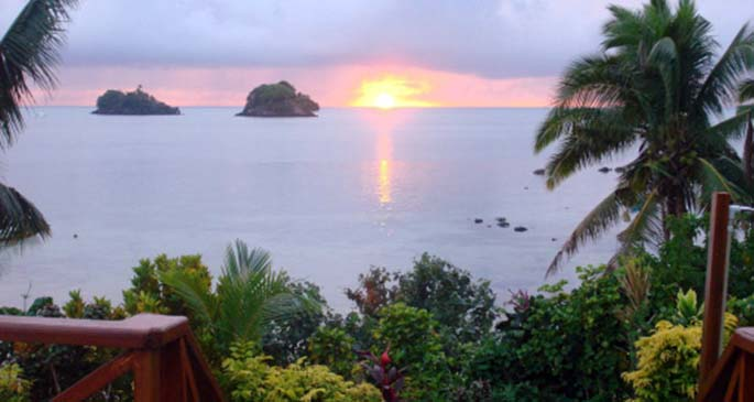 Sunrise in Taveuni.