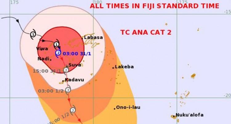 Expect Destructive Storm Force Winds As Category 2 TC Ana Pass Viti Levu