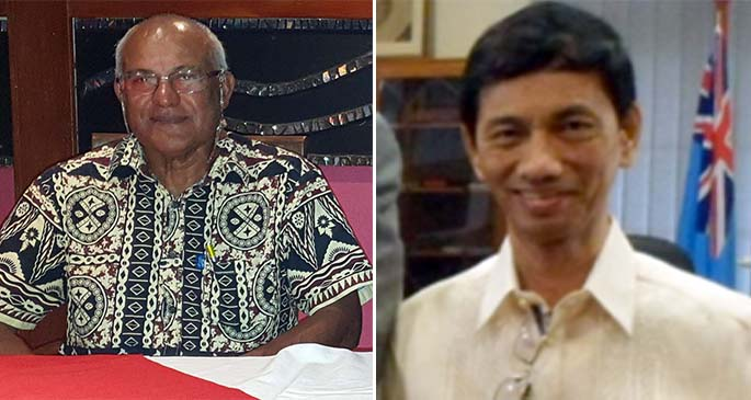 President of the Fiji College of Private General Practitioner Dr Ram Raju (left) and owner of the Nasese Medical Centre Dr Virgilio De Asa