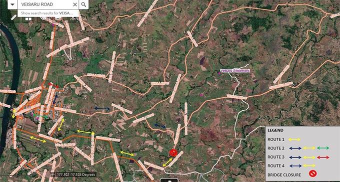 Optional routes to access past the VEISARU BRIDGE 1